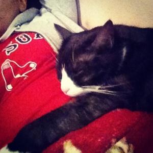 Patty all snuggled :)